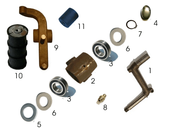 Suspension parts Axel