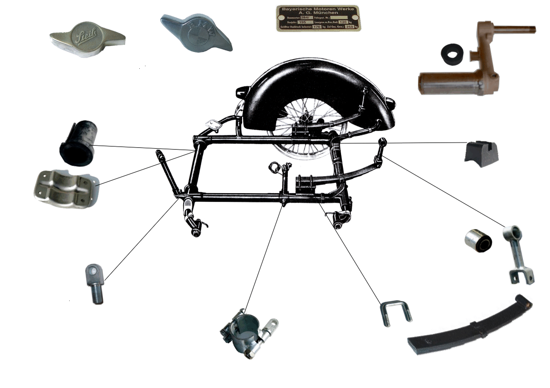 TR 500 Frame & Parts