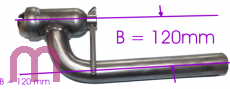 Bell Clamp with bent tube, diameter according to customer specifications