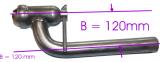 Glocke mit gebogenen Rohr, Durchmesser nach kunden angaben, (Einzelanfertigung)